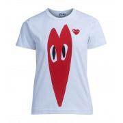 Comme des Garçons Play T-shirt Comme Des Garçons Play bianca con cuore rosso stretch