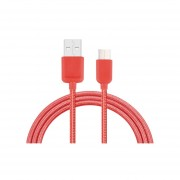 1m C * Nylon Woven Data Sync Cable De Carga Para El Xiaomi Mi5 / Mi4c, Meizu Pro 5, Letv Coolpad Cool1 Adaptador, Oneplus Y Otros Dispositivos Con Puerto Usb (rojo)