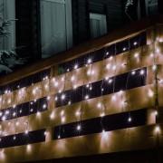 Sorolható fényfüggöny, 100LED, fehér, kültéri