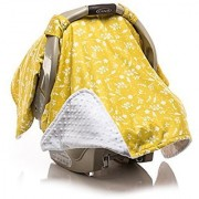 Elonka Nichole Baby Girl Car Seat Canopy Yellow Flower Branches