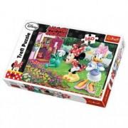 Puzzle Minnie Mouse uda florile 160 pcs 15328 Trefl
