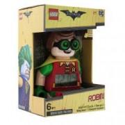 Ceas Minifigurina Robin - The Batman Movie cu alarma si LED - 24 cm