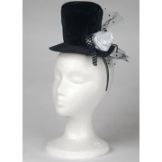 Loftus International Mini Top Hat & Flower Headband, Black/White, One Size