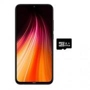 Xiaomi Redmi Note 8 (64 GB, 4 GB) visualización de 6,3 pulgadas, Snapdragon 665, cámara cuádruple de 48 MP, Dual SIM GSM desbloqueado de fábrica Versión internacional de EE. UU. y Global 4G LTE (negro espacio, 64 GB + 64 GB SD + paquete de carcasa)
