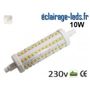 Ampoule LED R7S 10w smd 2835 118mm blanc naturel 230v ref r7s-08