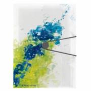 DOSAR MAPA A4 PP EOGT EXTENSIBILA INCHIDERE BUTON CU ELASTIC, LEMON SPLASH galben A4 15 mm Mapa plastic cu elastic Cu elastic