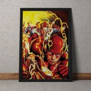 Quadro Decorativo The Flash Quadrinhos DC Comics 25x35
