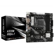 MB ASRock A320M Pro4-F, AM4, micro ATX, 4x DDR4, AMD A320, VGA, DVI-D, HDMI, 36mj (90-MXBAA0-A0UAYZ)