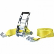 SmartStraps Commercial-Grade Stamped Ratchet Tie-Down Strap - 3 Inch x 27ft., with Flat Hook, 15,000-Lb. Breaking Strength, Model 4518