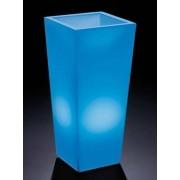 Verlichte bloempot 100cm vierkant Genesis RGB