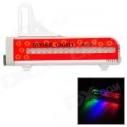 WH-88 bicicleta impermeable 16-LED multicolores luz bicicleta rueda de la lampara-rojo + blanco
