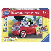 Ravensburger Topolino, Minnie & Co. Puzzle 2x12 pezzi (07565)
