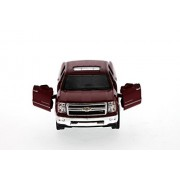 2014 Chevy Silverado Pick-up Truck, Red - Kinsmart 5381D - 1/46 Scale Diecast Model Toy Car