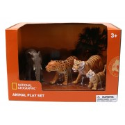 Set 4 figurine Leopard, Elefant, Tigru si Pui Tigru National Geographic, 3 ani+