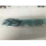 brand new genuine hsv bootlid badge / vf black & chrome r8 clubsport