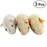 3pcs Pet Cat Bite-Resistant Toy Plush High Simulated Little Mouse Mouselet Hide and Seek Game Props