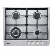Omega OCG64X 60cm 4 Burner Gas Stainless Steel Cooktop