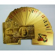 cm treder Gold Plated Playing Cards - Poker Playing Cards
