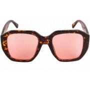 Voyage Retro Square Sunglasses(Pink)