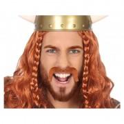 Geen Rode Viking snor verkleed accessoire
