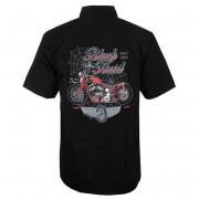 Chemise pour hommes BLACK HEART - RED BARON CHOPPER - NOIR - 008-0026-BLK