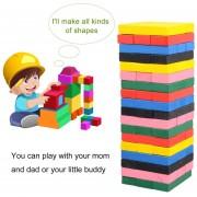 ER 54pcs/set No Tóxicos Niños Kids Bloques De Madera Juguetes Juegos Educativos