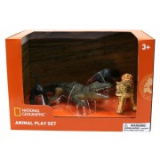 Set 4 figurine Furnicar, Crocodil, Leopard si Maimuta National Geographic, 3 ani+