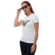Giorgio Armani T-shirt girocollo mezza manica Bianco Cotone Donna