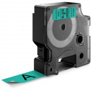 Dymo Standard D1 Tejp 19mm Svart på grönt
