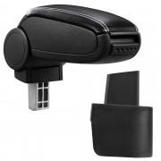 Подлакътник [pro.tec]® Nissan Micra (K12) с контейнер за съхранение Изкуствена кожа/Черен/бял шев