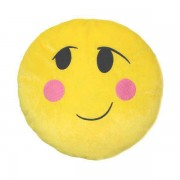 Soft Smiley Emoticon Yellow Round Cushion Pillow Stuffed Plush Toy Doll (In Love)
