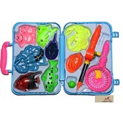 Vibgyor Vibes™Fishing Toy Game For Kids with a Fishing Rod and 8 Fishes and Sea Animals.