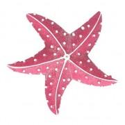 Merkloos Magneten glitter zeester roze 7.5 cm