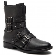 Боти STEVE MADDEN - Ivy Ankelboot SM11000074 Black Leather