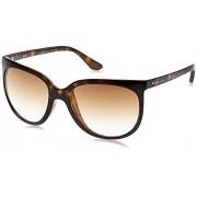 Ray-Ban RB4126 anteojos de sol (57 mm), diseño de gato con ojo de gato, color café