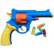 SHRIBOSSJI Rubber Bullet Luminous Toy Gun - British Bull-Dog Revolver For Kids (Multicolor)
