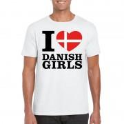 Shoppartners I love Danish girls t-shirt wit heren