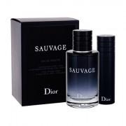 Christian Dior Sauvage confezione regalo eau de toilette 100 ml + eau de toilette 10 ml per uomo