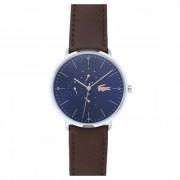 Lacoste Moon Reloj de cuarzo acero inoxidable blau/braun