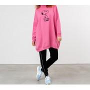 Lazy Oaf x Peanuts Sweater Dress Pink