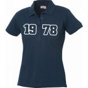 Clique Jahrgangs-Polo für Frauen navyblau grosse Zahlen, Grösse M