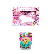 Puppy Surprise - 1 Mom & 3 - 5 Surprise Puppies, Also Includes - Shopkins Season 3 (5-pack) (Roxy, Large & Mini Puppies + 5 Small Shopkins)