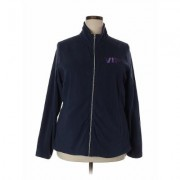 Assorted Brands Fleece Jacket: Blue Solid Jackets & Outerwear - Size 2X-Large