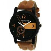 True Colors Lor AM Brown Round Dial Tan Leather Quartz Watch For Men