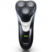 Afeitadora de hombre Philips recargable AT610 Triple hoja de afeitar eléctrica seca y húmeda con recortadora para el cuerpo entero lavado(Negro)