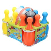 12PCS Set 23CM Height Funny Large Bowling Bottle With Balls Pins For Kids Children Sports Toys