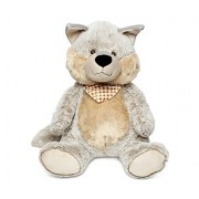 "Puzzled Sitting Grey Wolf Xl Super Soft Stuffed Plush Cuddly Animal Toy Wild Animals Collection 17"" Inch Unique Huggable Loveable New Friend Gift Item #5009"
