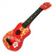 "Red Floral Island Inspired Ukulele 21"""