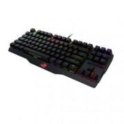 Клавиатура Asus ROG Claymore Core(Cherry MX Brown), гейминг, механична, високопрофилни клавиши, алуминиев корпус, AURA RGB програмируема подсветка, без Numpad, черна, USB