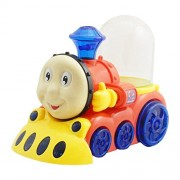 Happy Face Fountain Train with Light, Music, Funny Moves Bump Go Battery Operated Toy Gift for Kids by eRunners